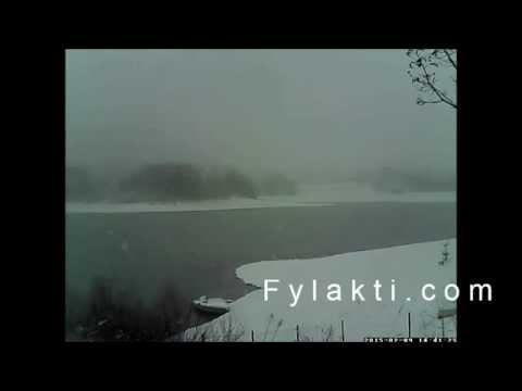Χιονόπτωση Πλαζ Λίμνης Πλαστήρα 9-2-15 - Fylakti.com