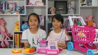 Đồ Chơi Máy Tính Tiền Siêu Thị - Hồng Anh Chơi Trò Chơi Bán Hàng - Cash Market Register Kids Toys