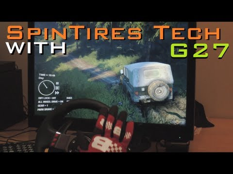 Spin Tires new Jeep [UAZ] with G27 Steering Wheel (1080p. 2013) offroad gameplay demonstration