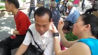 Chinese Ear Cleaning (3) Park Ear Cleaning Relaxation and Stress Relief