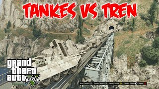 GTA 5 Gameplay | 100 Tanques vs Tren | Grand Theft Auto V HD