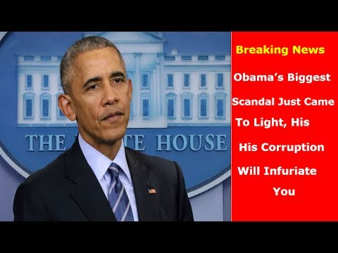 Breaking News OUTRAGE: Obama's Biggest Scandal Just Came To Light, His Corruption Will Infuriate You