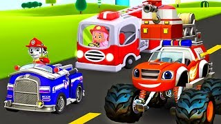 Firefighter Rescue | Paw Patrol Bubble Guppies Blaze and The Monster Machines Gameplay