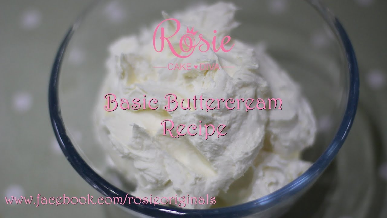 Basic Buttercream Recipe - YouTube