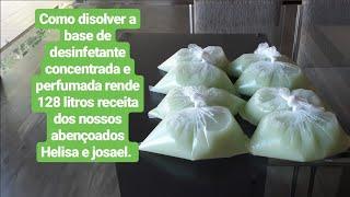 Como dissolver a base desinfetante receita dos nossos abençoados Helisa e josael.