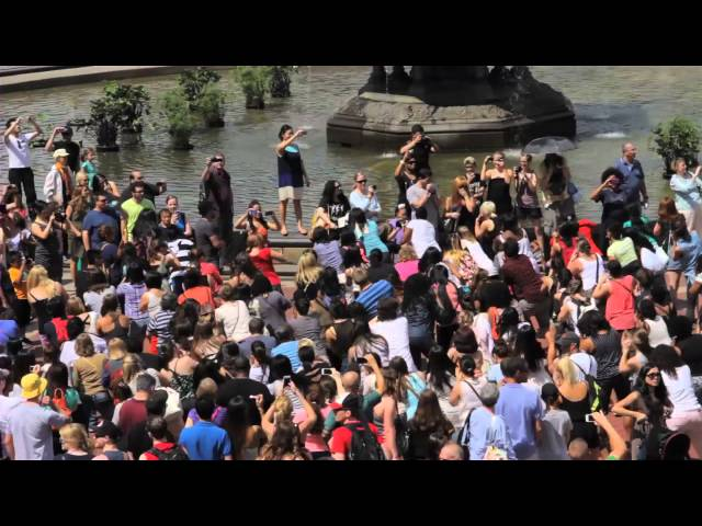 Giordano & Deanna's Marriage Proposal Flash Mob - Central Park