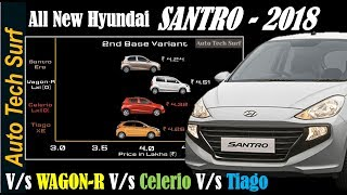 Hyundai Santro 2018 ASTA/ SPORTZ/MAGNA/ERA/DLITE -Price comparison with its competitors