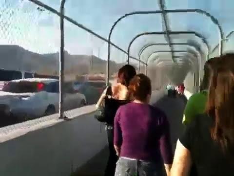 Cruzando la frontera a pie