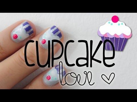 Cupcake Nail Tutorial! ♥Decoración de uñas cupcake para uñas cortas♥