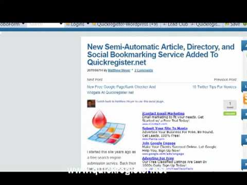 0 Semi Automatic Article Submission Service
