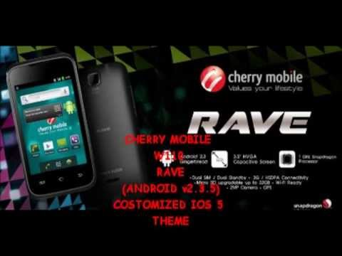CHERRY MOBILE W110 RAVE android 2.3.5 turns iOS display