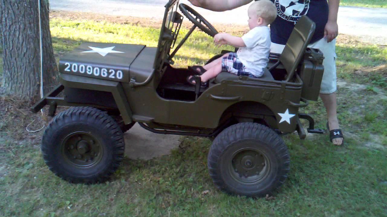 Jeep Lawn Mower >> Mini Jeep, newest driver - YouTube