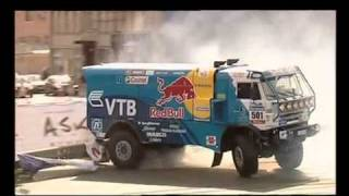 Занос грузовика В.Чагина на Bavaria Moscow City Racing  2010