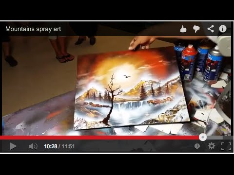 Mountains spray art