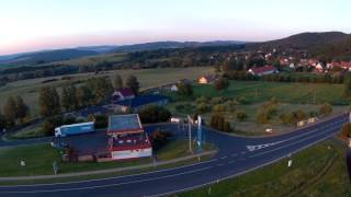 bořislav - západ slunce (aerial video)