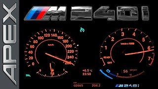 BMW M240i - FULL THROTTLE + CONTROLLED EMERGENCY STOP (2016)