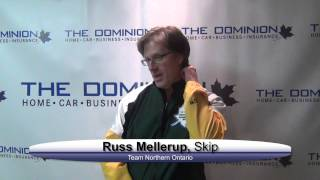 Draw 1 Interviews from The Dominion Curling Club Championship 2012