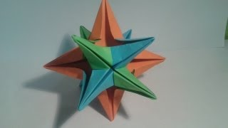 Como Hacer Una Estrella De 12 Puntas (origami)