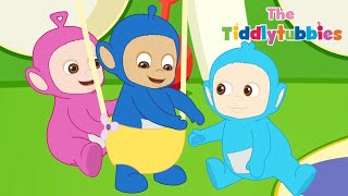 Tiddlytubbies 2D Series! ★ Episode 1: Getting Stuck! ★ Teletubbies Babies ★ Cartoon for Kids