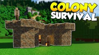 BUILDING A COLONY & BECOMING KING! - Colony Survival Gameplay [Ep 1] - Kingdom Building!