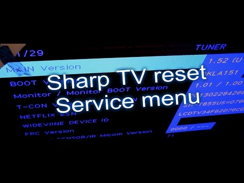 3 ways to reset TVs. Sharp TV fix review