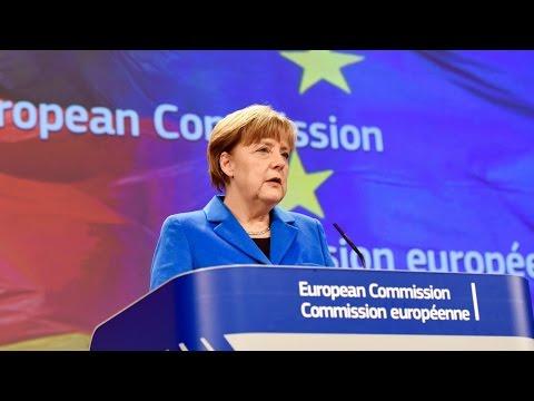 Merkel in Brussels to discuss main EU issues