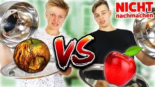 REAL FOOD vs. GAMMEL FOOD 🤢 DAS DARF NIEMAND ESSEN 🤮 TipTapTube