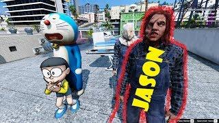 GTA 5 - Doraemon và Nobita gặp gỡ sát nhân Jason   GHTG