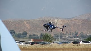 Riverside Police Department Helicopter Air1 Demo at 2015 Airshow