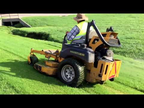 Lawn Care Vlog 2 - Hustler Mower Almost In The Ditch -