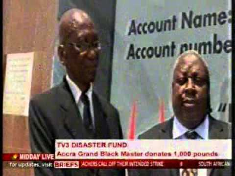 MiddayLive - Accra grand black master donates £1000 to TV3 disaster fund - 15/10/2015
