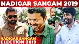 FULL VIDEO : Nadigar Sangam Elections 2019 | Thalapathy Vijay | Suriya | Siva Karthikeyan | Vishal