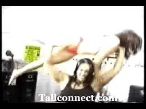 Girl Lifts Girl Overhead Cindy Taylor Overhead Lift