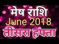 Mesh rashi June 2018 - Saptahik Rashifal/मेष राशि जून 2018 - तीसरा हफ्ता
