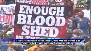 Catholics in Benin Archdiocese join protest over incessant killings