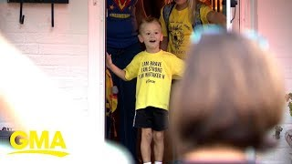 4-year-old cancer survivor gets Bumblebee-themed birthday surprise from community | GMA Digital