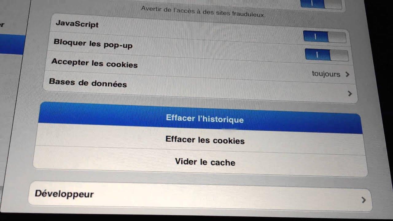 supprimer les cookies de safari sur iphone ipad effacer ses traces sur internet youtube. Black Bedroom Furniture Sets. Home Design Ideas