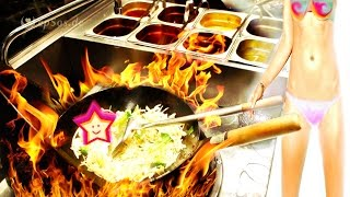 Cooking in the Chinese Wok for 100 People.