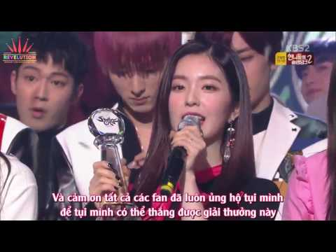 VIETSUB: 170217 RED VELVET WIN Music Bank : ROOKIE 8TH WIN