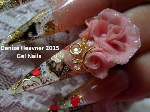 Vintage  Valentine Nails ------------Valentine Card Nails in GEL