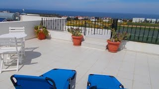 SOLD! STUNNING 2 BEDROOM PENTHOUSE APARTMENT WITH SEA VIEWS, BAHCELI, KYRENIA HP1682KF  £39,950