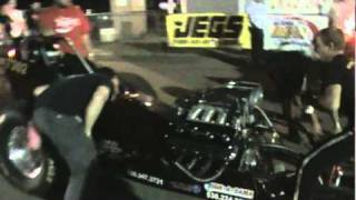 Kin Bates Jr test at Redding Dragstrip