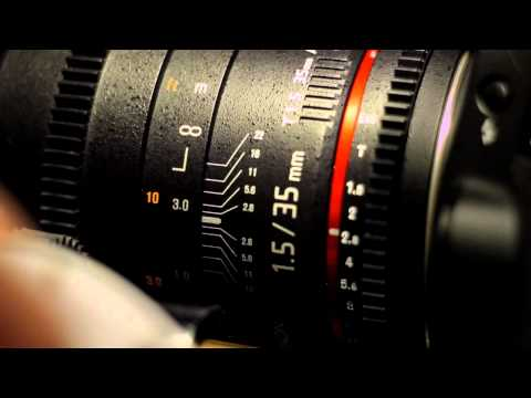 Lens Review and Test Footage Rokinon Cine 35 T1.5 and Samyang