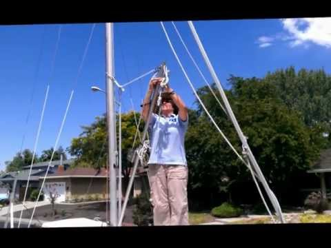 Single-Handed Mast Raising - Set up