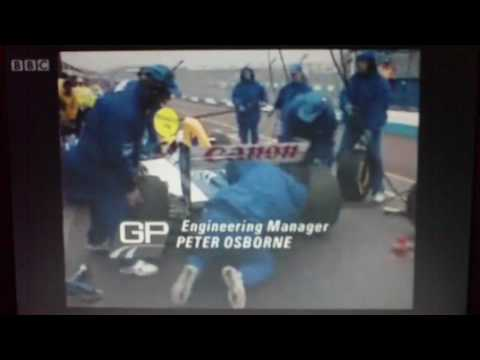 the bbc ending credits for the 1993 european grand prix at donington.