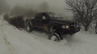 Lifted Cummins Vs Snow