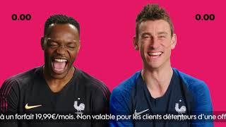 Pub Sosh Défie Vitesse Equipe de France Steve Mandanda et Laurent KOSCIELNY - Drole de pub