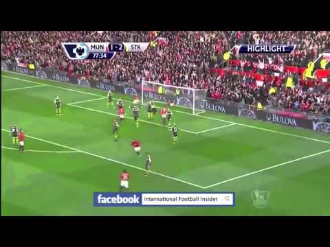Manchester United Stoke City 3-2 Wayne Rooney's goal HD