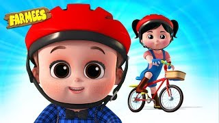 Lets Ride A Bicycle | Preschool Rhymes For Kids | Videos For Babies - Farmees
