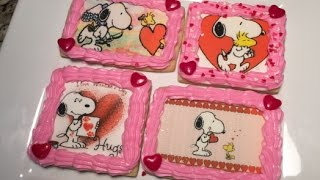 Snoopy Valentine's Day Cookies With Edible Images